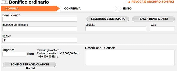 Causale bonifico sofort il bonifico online diretto with for Causale bonifico ristrutturazione 2017