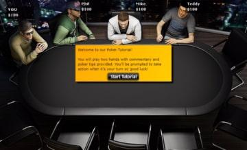 una schermata di gioco di Gioco Digitale Poker