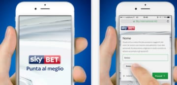 Web e App per dispositivi mobile Sky Bet