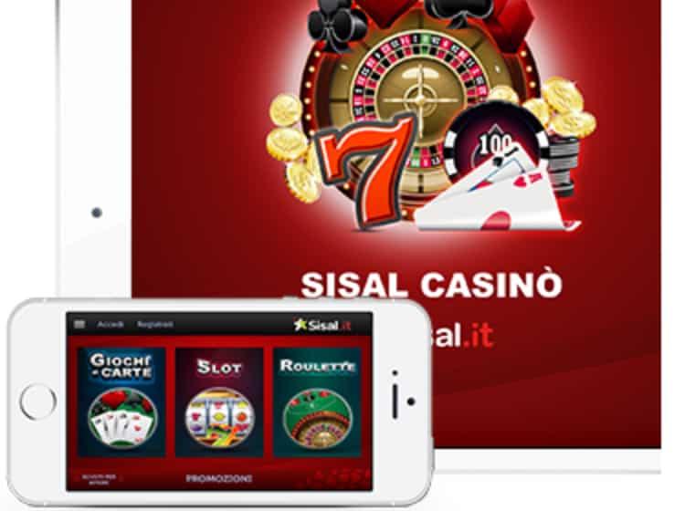 Web e app per dispositivi mobili Sisal Casino
