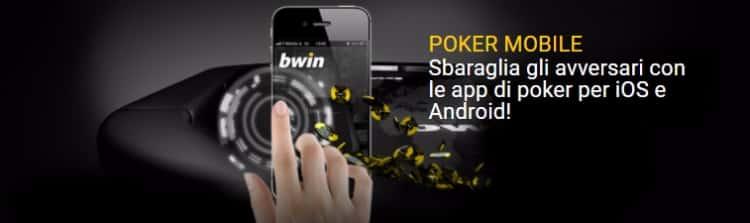 l'app mobile di Bwin Poker