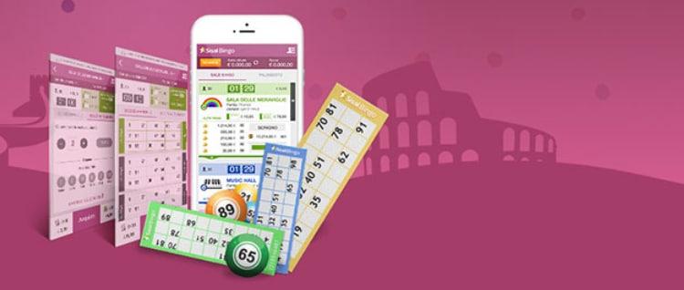 la sezione sisal bingo su app mobile