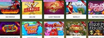 alcune delle slot machine su Eurobet Casinò