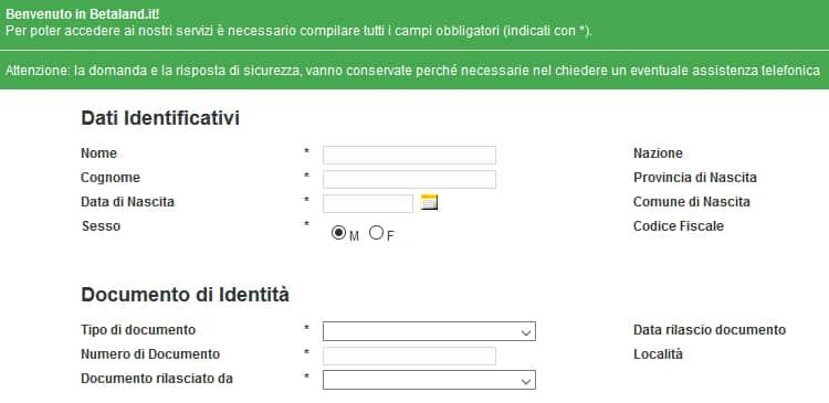 Registrazione_betaland