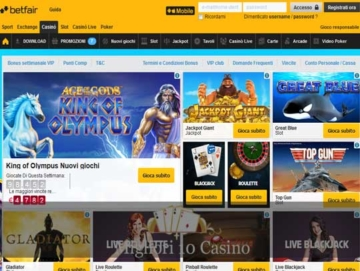 betfair casino galleria