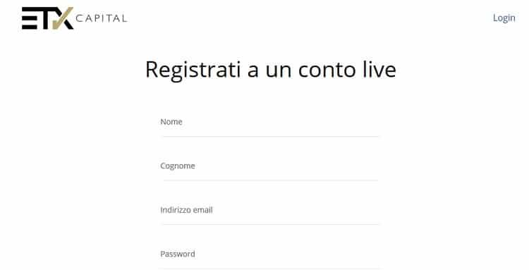 guida_etx_capital_come_registrarsi