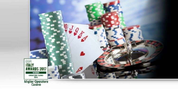 il premio EGR a Sisal come miglior operatore casino