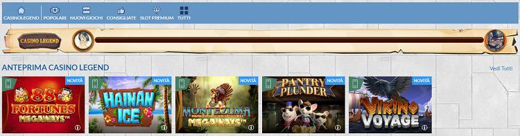 eurobet-casino-legend-slot-giochi-livelli