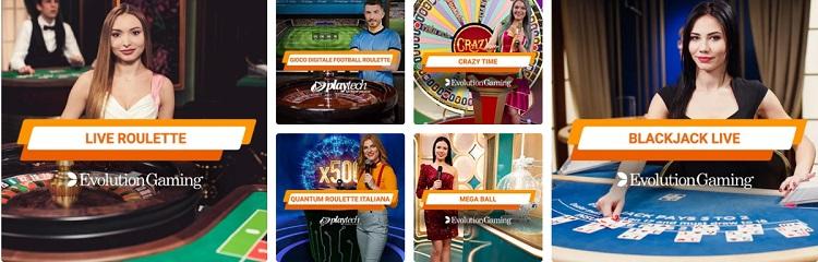 la sezione live su Gioco Digitale Casino
