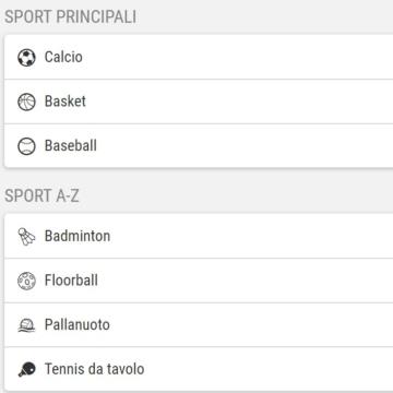 gli sport disponibili su gioco digitale scommesse