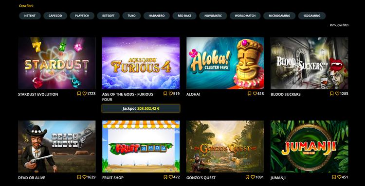 alcune slot disponibili su stanleybet casino