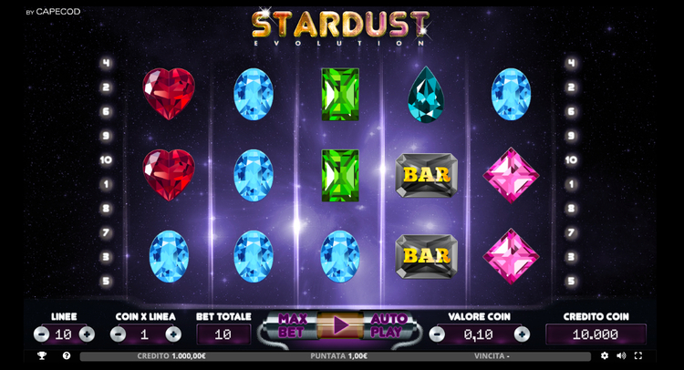 dettaglio della slot stardust su stanleybet casino
