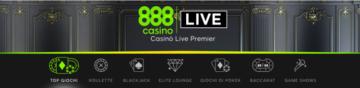 la sezione Live su 888casino