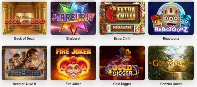 Alcune slot disponibili su LeoVegas Casino