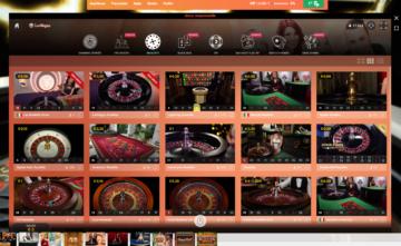 Le roulette del casino live su LeoVegas