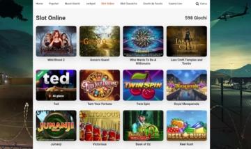 la sezione Slot su LeoVegas Casino