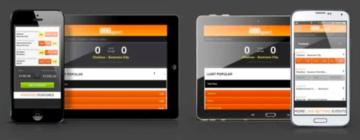 il portale 888sport visualizzato da mobile