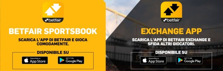 la betfair app per ios e android
