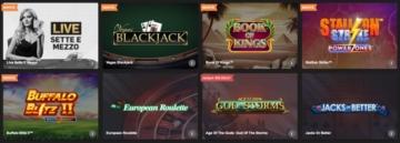 alcuni dei giochi su Betfair casino
