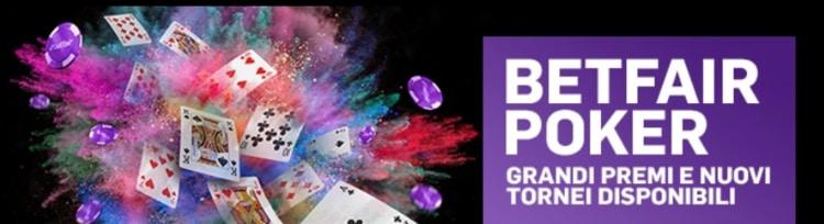 dettaglio della home page di Betfair poker