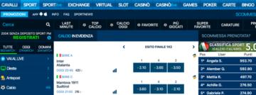 la home page di betflag sport