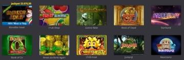 alcune delle slot machine disponibili su Big Casino