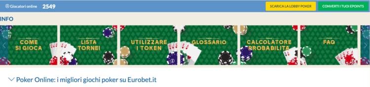la pagina eurobet poker