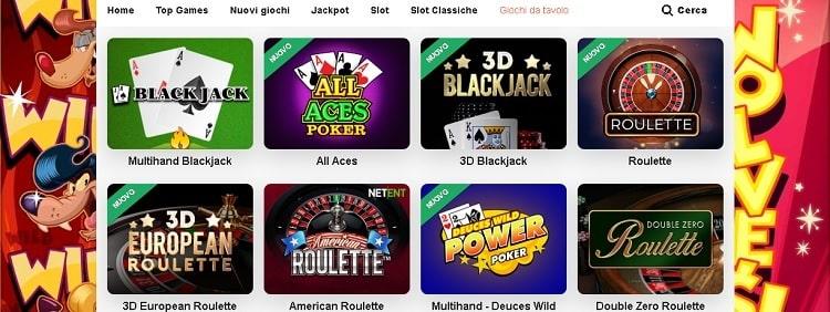 alcuni dei giochi su leovegas casino