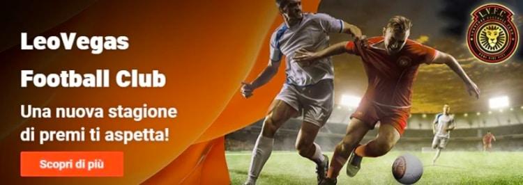 promozioni calcio leovegas