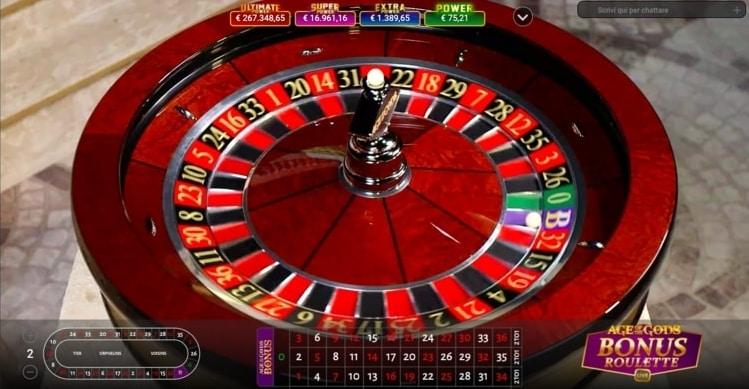 la roulette live su SNAI Casino