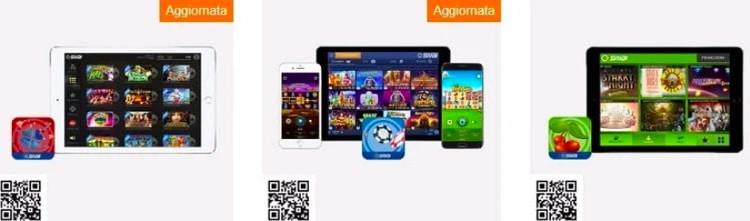 snai app su dispositivi mobile