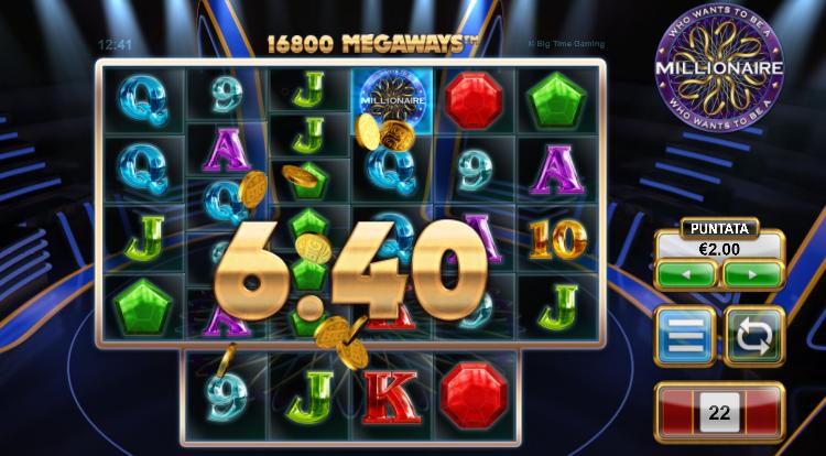 caratteristiche della slot who wants to be a millionaire