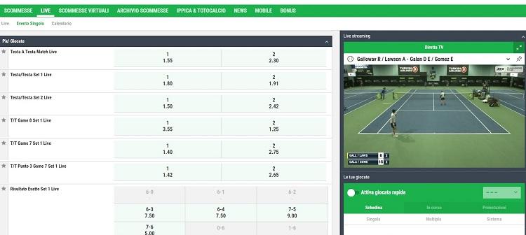 diretta streaming degli eventi sportivi su better