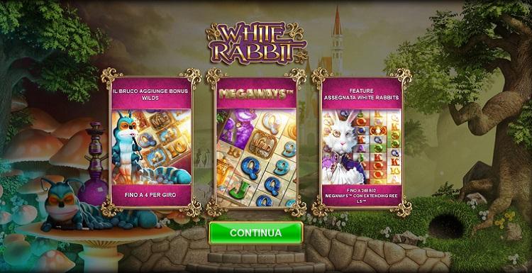 funzionalità presenti sulla slot white rabbit megaways