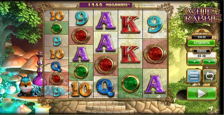 schermata di gioco della slot white rabbit megaways