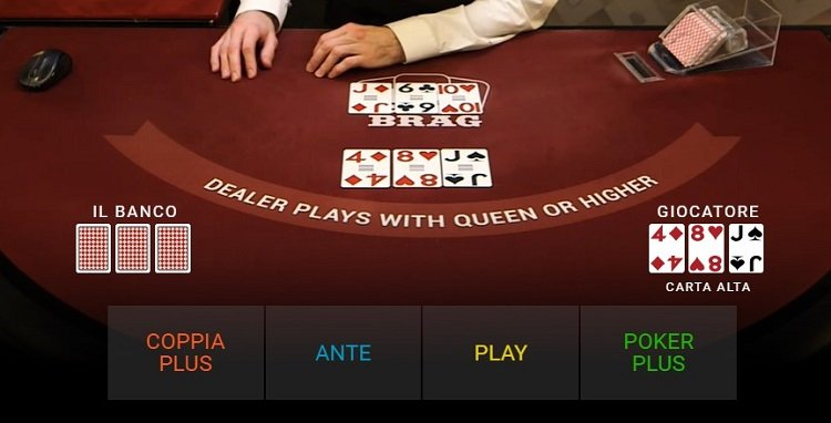 3 card brag poker live
