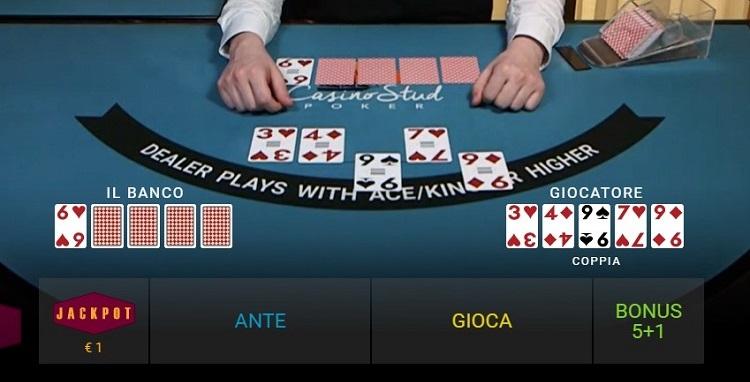 casino stud poker live