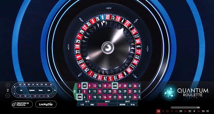 quantum roulette live