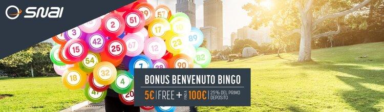 il bonus benvenuto bingo di snai