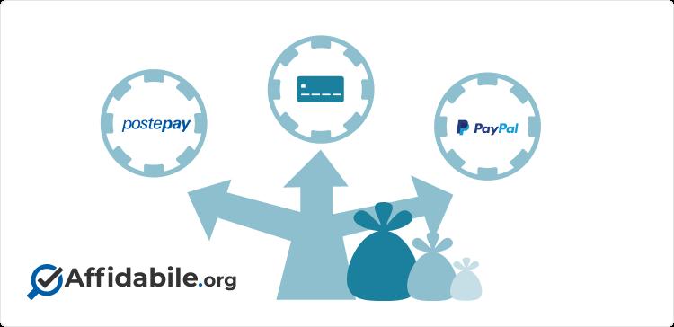 metodi di pagamento casino online